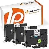 Bubprint 3 Schriftbänder kompatibel für Brother TZe231 TZe-231 für P-Touch 1000 1005 1010 1080 1090 1200 1230 1250 1260 1280 schwarz auf weiß 12mm 8m