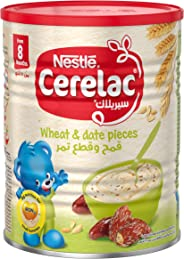 Nestle Cerelac Infant Cereal Wheat & Date Pieces Tin 400g