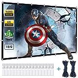 Powerextra HD 16:9 271 x 154 cm (120 tum) projektorduk – inga veck, bärbar väska, projektionsvägg, stöd för dubbelsidig proje