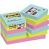 """Post-it Super Sticky - Notas adhesivas, pack de 12 blocs, colección """"Nuevos colores, nuevos lugares"""" Miami"""
