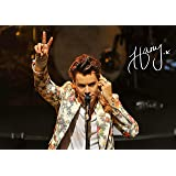 Theissen Harry Styles Poster Photo Signed Autograph Print Gift Collectible Merchandise - Matte Poster Frameless Gift 11 x 17