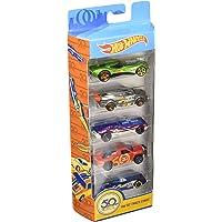 Hot Wheels Coffret 5 véhicules, jouet pour enfant de petites voitures miniatures, modèle aléatoire, 1806