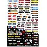 Kit de pegatinas de patrocinador de moto - Compatible con Honda, Yamaha, KTM, Cross, Enduro, casco (1BS)