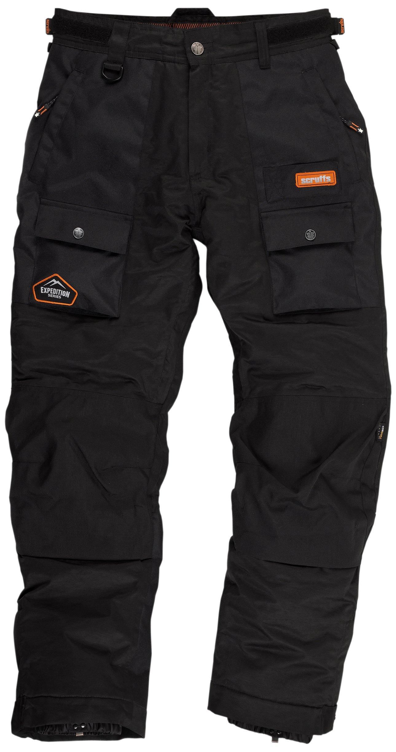 Scruffs Expediton - Pantaloni termici da uomo, impermeabile, traspiranti, con finiture 3M, nero (ne
