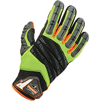Proflex 925F Impact Reducing Work Gloves with Back Hand Protection x Set Of 2 Piece Large Lime