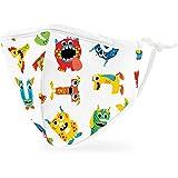 Weddingstar Maschera facciale in tessuto lavabile per bambini Copertura protettiva in tessuto riutilizzabile e regolabile con