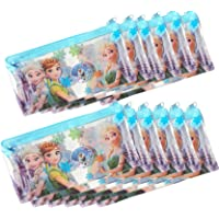 Asera Frozen Kids Plastic Pouch Small Size for Birthday Return Gifts- Frozen Theme Party Gifts Option (Pack of 12)