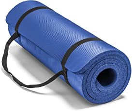 BODY MAXX Extra Thick Yoga and Exercise Mat with Carrying Strap, 10mm Thick, (XL, 6x2ft, BMY-10MM)