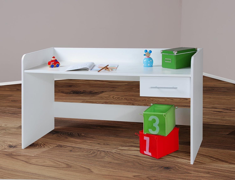 Kinderschreibtisch weiß höhenverstellbar  4510 -2- Kinderschreibtisch Schreibtisch, höhenverstellbar, 140cm ...