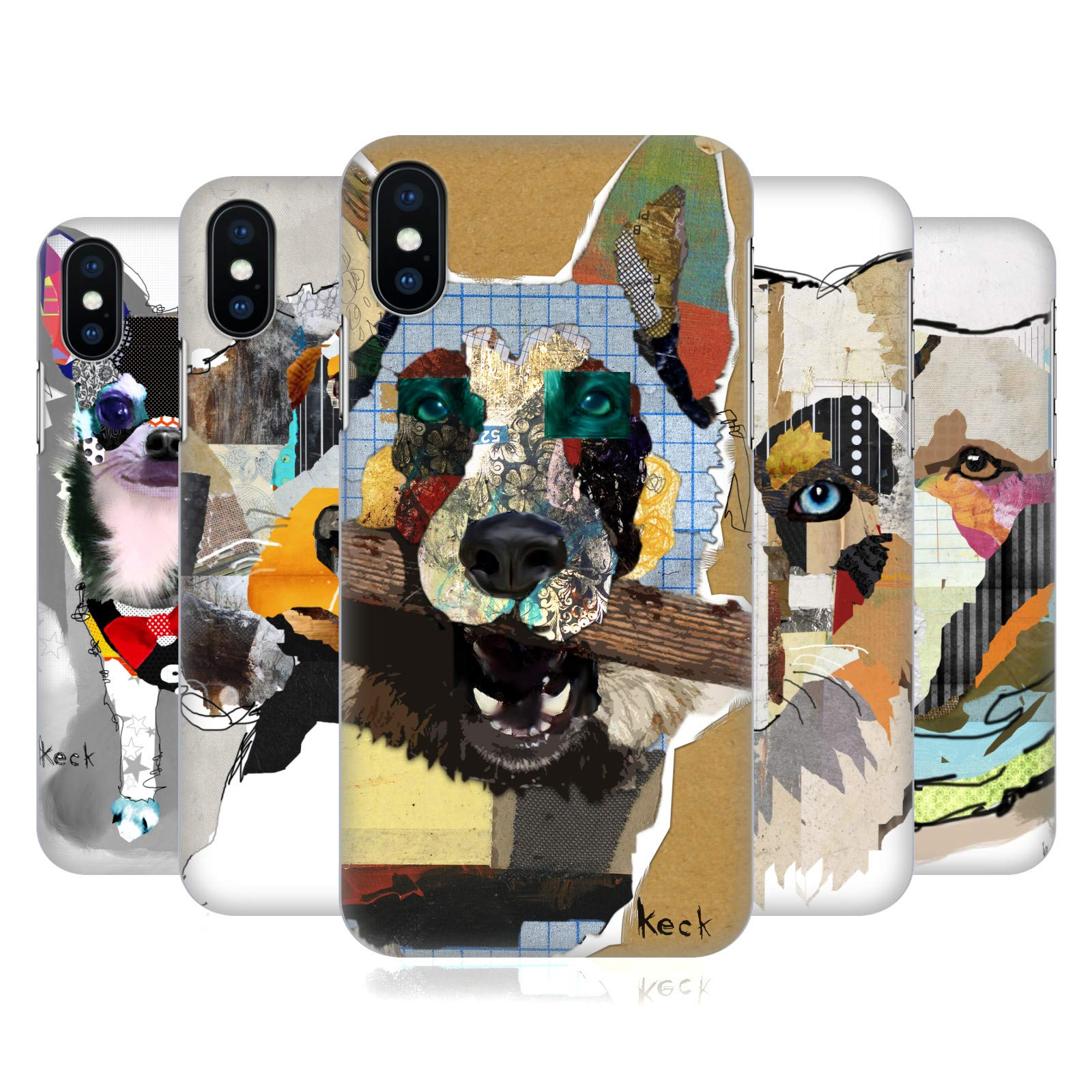 Official Michel Keck Australian Shepherd Dogs 3 Hard Back Case Compatible for Apple iPhone 6 / iPhone 6s