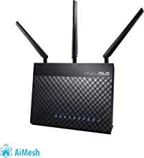 Asus RT-AC68U AC1900 802.11ac Dual-Band Router (AiMesh, App Steuerung, AiProtection by Trendmirco, Multifunktion-USB 3.0)