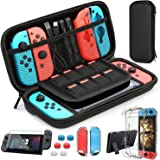 HEYSTOP Custodia Switch, Switch Cover Trasparente con HD Switch Pellicole Protettive e Thumb Grips per Nintendo Switch…
