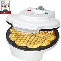 ETC Shop Bomann WA 5018   Piastra per waffle con dispositivo antisurriscaldamento  1200W  bianca