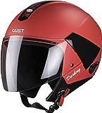 Steelbird SB-33 7Wings Gust Dashing Open Face Helmet (Medium 580 MM, Red with Plain Visor)