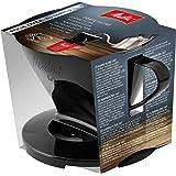 Melitta Kaffehållare för filterpåsar, kaffefilter 1 x 2 standard, plast, svart, 217557