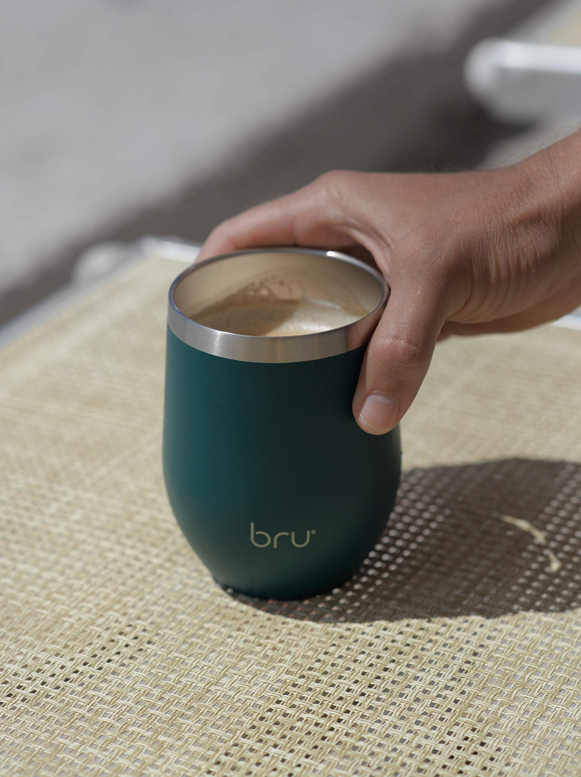 bru-The-Reusable-Eco-Friendly-Takeaway-Thermal-Coffee-Cup-12oz340ml-Double-Walled-Stainless-Steel-3-Hours-Hot-5-Hours-Cold-Stylish-Modern-Durable-BPA-Free-Slider-Lid