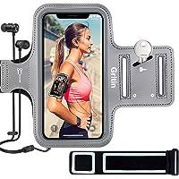 Gritin Fascia da Braccio, Sweatproof Porta Cellulare Braccio Sportiva per iPhone SE(2020)/11/11 Pro/XR/XS/X/8/7, Galaxy…