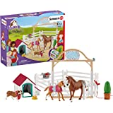 Schleich Horse Club, 20-Piece Playset, Horse Toys for Girls and Boys 5-12 years old Hannah's Guest Horses with Ruby the Dog