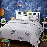 RAGO Kids Baby Elephant White and Grey BEDSHEET Set (King)
