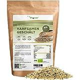 Biologische Hennep Zaden Gepeld - 1100 g (1,1 kg) - Premium: Herkomst Nederland - Natuurlijke Eiwitbron - Rijk aan Omega-3 Ve