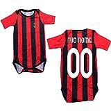 Milan Body Neonato Rossonero Personalizzato A.C