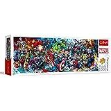Trefl- Puzzles 1000 Panorama Marvel Puzzels, 29047, coloré