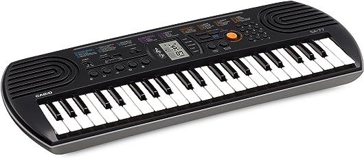 Casio SA-77 Mini Tastiera, 44 Tasti, Nero/Grigio