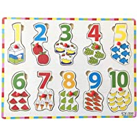 FunBlast Wooden Colorful Learning Educational Board for Kids with Knobs, Educational Learning Wooden Board Tray, Size- 30 X 22 cm, Available in 4 Different Variants (0 to 10)