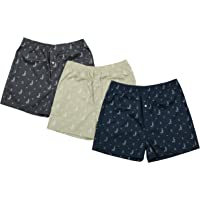 The Cotton Company Men's Cotton Printed Boxer Shorts - Pack of 3