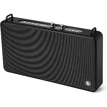 GGMM Bluetooth Lautsprecher, Tragbar 15 Stunden Akkulaufzeit, Höhen- und Bassregler
