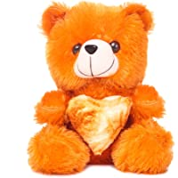 Deals India Brown Heart Teddy Bear Soft Toy- 28 cm, Brown