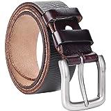 VRLEGEND Cintura Uomo Pelle Cinture Jeans Cinta Uomo 100% Pelle di Bufalo,3.8cm per Abbigliamento Casual e Formale,Colore Ner