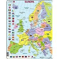 Larsen K2 Carte Politique de l'europe, édition Allemand, Puzzle Cadre avec de 48 pièces