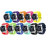 Tabcover Smart Watch Bracelet,11 Colors 22mm Soft Silicone Sports Replacement Strap for Samsung Gear S3 Frontier / Classic watch