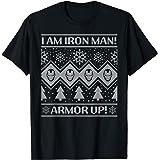 Marvel Iron Man Armor Up Holiday Camiseta