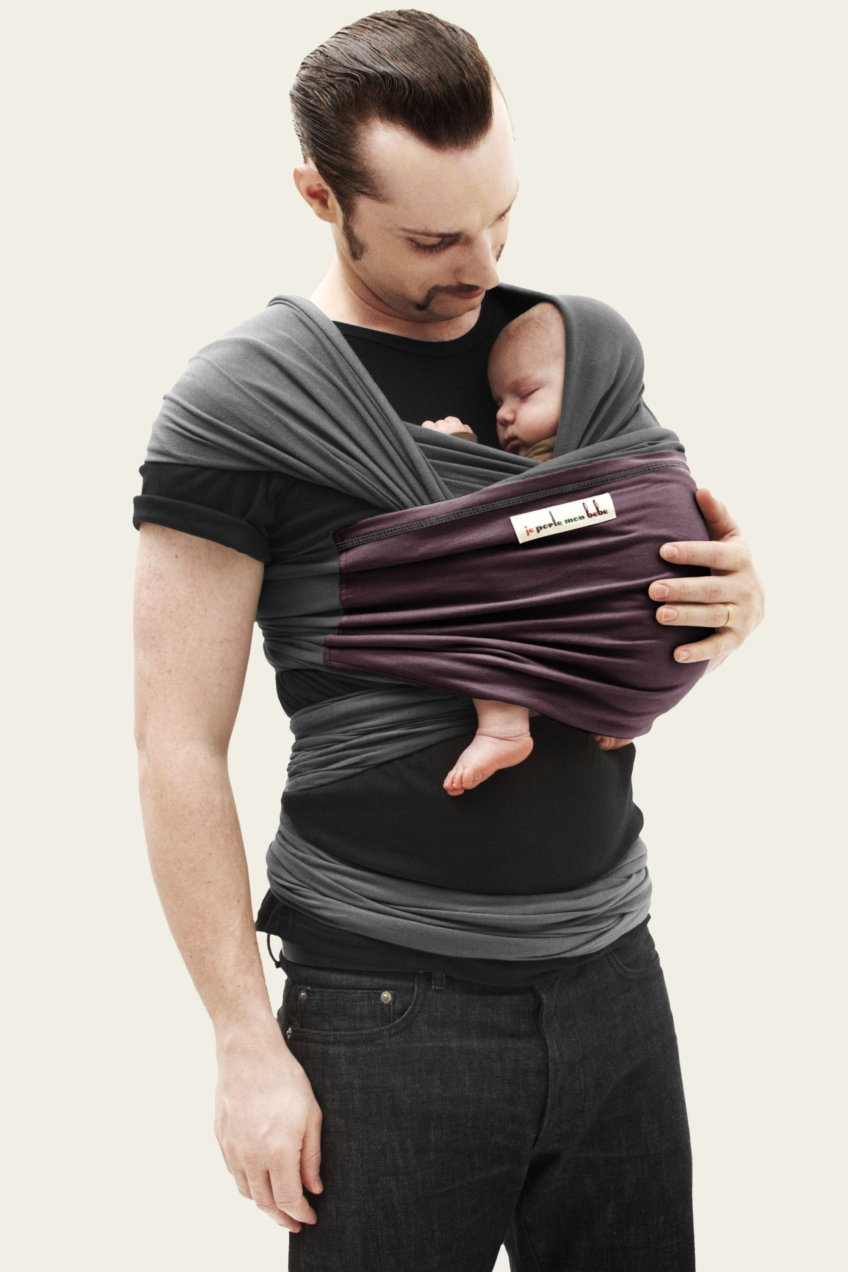 Je Porte Mon Bébé L'Originale Baby Sling Je Porte Mon Bébé High Quality Elastic Baby Carrier Dense, elastic and breathable material Great support, fits your baby's body like a second skin. 34
