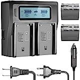 Neewer 6600mAh Li-ION Akku für Sony NP-F970 NP-F970 NP-F960 NP-F975 NP-F570 NP- F750 NP-F770 und LCD Dual Ladegerät…