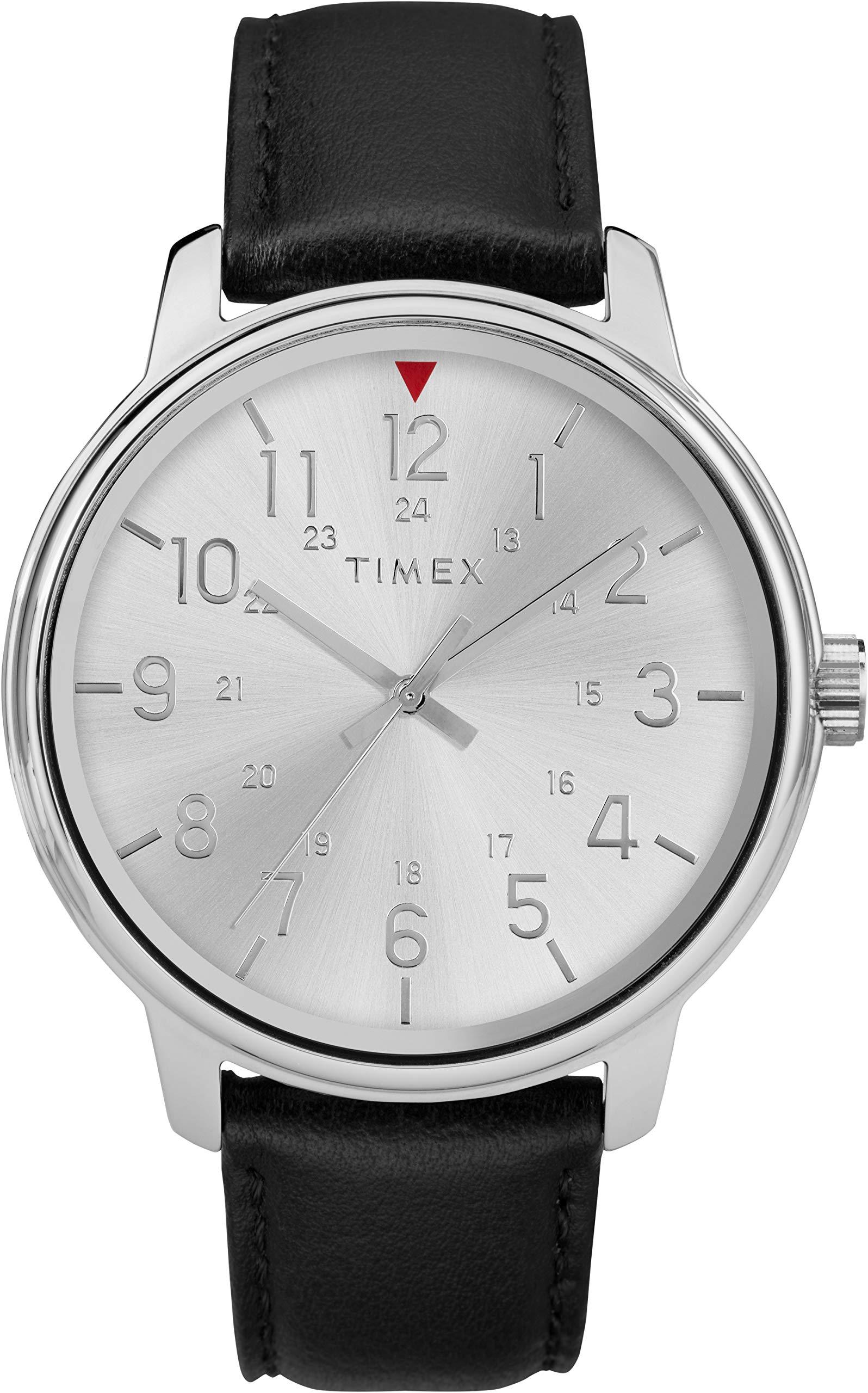 Timex TW2R85300 – Reloj analógico clásico de Cuarzo con Correa de Piel para Hombre