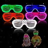 GUBOOM 5 led-lichtspeelgoed, feestartikelen, led-bril voor feestjes, lichtspeelgoed, kinderverjaardag, gastgeschenk, verjaard