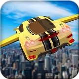 Futuristisches fliegenden Auto Drive 3D
