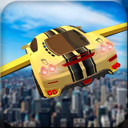 Extreme Futuristische Flying Car Flugsimulator 3D: Furious Autofahren Racing & Classic Pilot Fly Abenteuer Kostenloses Spiel für Kinder 2018