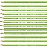 Matita colorata triangolare - STABILO Trio thick - Confezione da 12 - Giallo Verde
