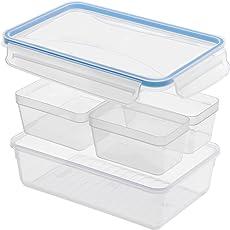 Rotho Frischhaltedose Clic & Lock, Aromafeste Aufbewahrungsbox mit Deckel, Inhalt 0.5 l, transparente Kunststoffbox mit Clip-Verschluss, BPA-freie Vorratsdose spülmaschinengeeignet