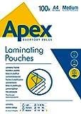 Fellowes Apex Pochette de plastification Epaisseur moyenne 125 microns Transparent