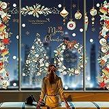 heekpek Pegatinas Ventana Navidad Pegatinas Navidad Puerta Nevera Pegatina Navidad Escaparate Decoracion Navidad Escaparates