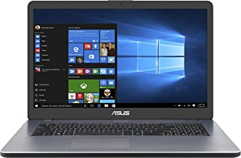 ASUS A705UA (90NB0EV1-M06460) 43,9 cm (17,3 Zoll, FHD, Matt) Notebook (Intel Core i5-8250U, 8GB RAM, 256GB SSD, Intel UHD Graphics, Win 10) Grau