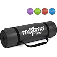 Maximo Exercise Mat NBR Fitness Mat - Multi Purpose - 183 x 60 x 1.2 centimetres - Pilates, Sit-Ups, Planks, Stretching, Push-ups, Home, Gym - Perfect for Men, Women & Kids.