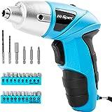 Tournevis Electrique, Hi-Spec Visseuse Devisseuse san Fil, Petite Visseuse Bleu avec 4.8V 600mAh Batterie de Ni-Mh & LED, 26