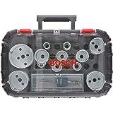 Bosch Professional 2608594192 14-delars hålsågspåsare för trä och metall universalset (borrtillbehör)