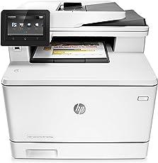 HP Color LaserJet Pro M477fdw Farblaserdrucker Multifunktionsgerät (Drucker, Scanner, Kopierer, Fax, WLAN, LAN, ePrint, Airpint, Duplex, NFC, USB, 600 x 600 dpi) weiß